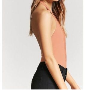 Forever 21 Tops - Deep v lace body suit